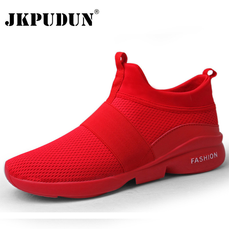 JKPUDUN Summer Men Shoes Sneakers Designer Mens Trainers Luxury Male Casual Shoes Mesh Breathable Gym Shoes Zapatillas Superstar