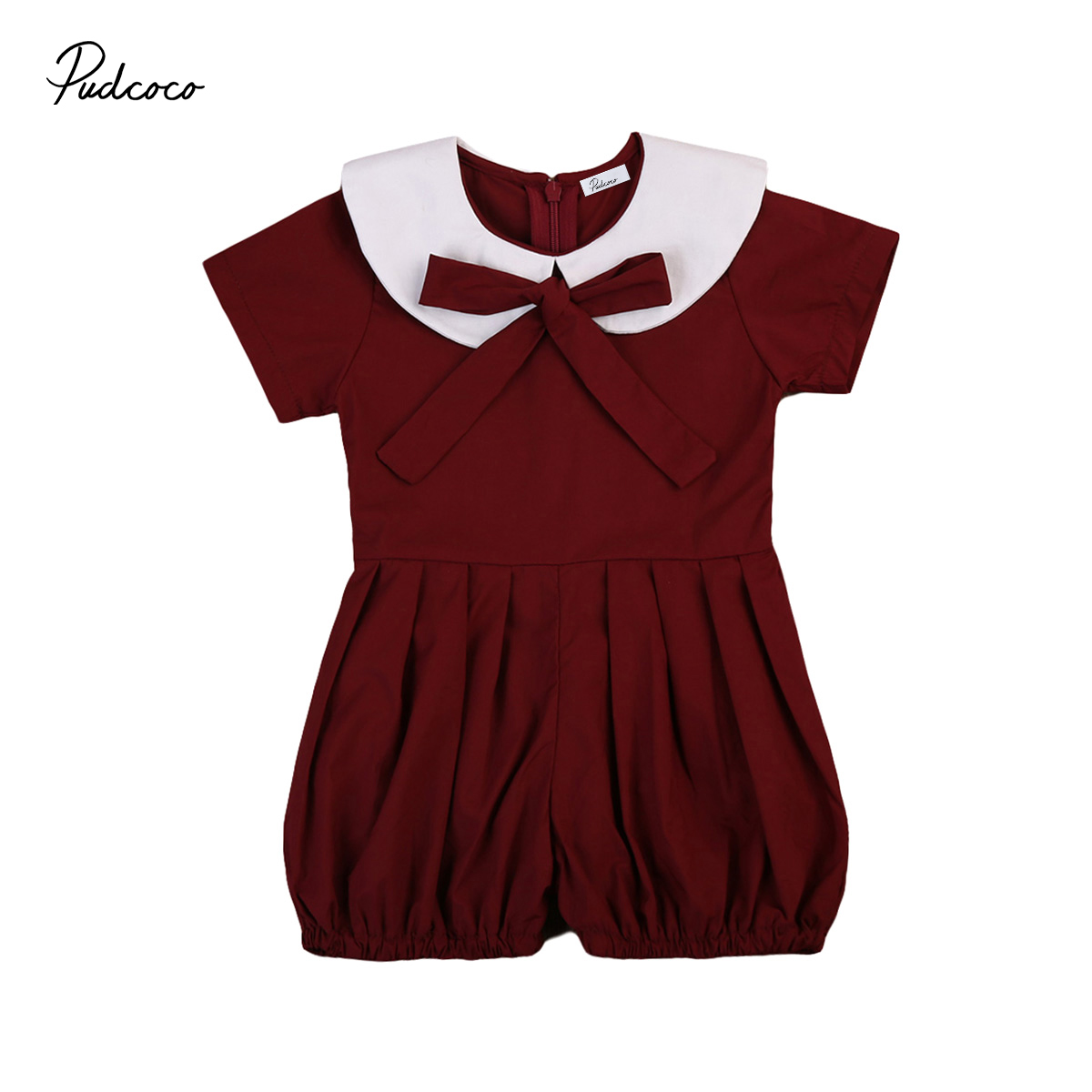 2017 New Brand Summer Newborn Toddler Infant Kids Baby Girl Outfit Clothes Ruffled Romper Jumpsuit Short Sleeve Sunsuit 6M-4T 2017 new adorable summer games infant newborn baby boy girl romper jumpsuit outfits clothes clothing