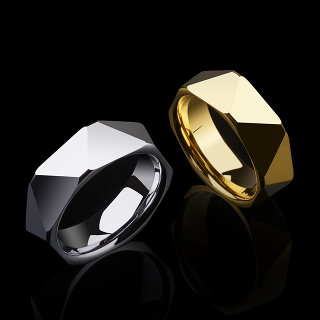 High Polished Tungsten Rings Silver/Gold
