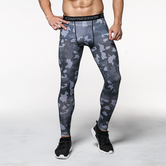 eec96666960a3 2016 Men Compression Pants Tights Casual Bodybuilding Mans Trousers Brand  Camouflage Army Green Skinny Leggings