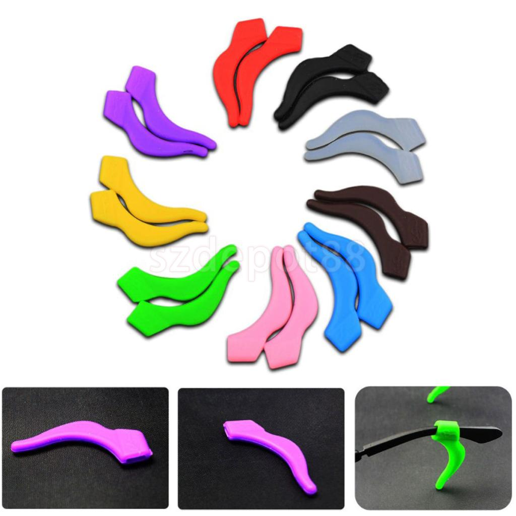 10 Pairs Silicone Ear Hooks Grip Holder Reading Eye Glasses Sunglasses Temple Tip Eyeglasses Retainer Eyewear Ear Lock Anti Slip