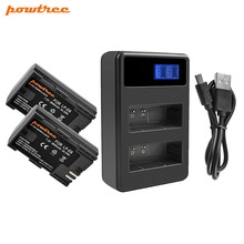 Powtree For Canon 2PCS 2800mAh 7.2V LP-E6 LP E6 LPE6 Camera Battery + LCD Dual Charger EOS 5D Mark II III 60D 70D