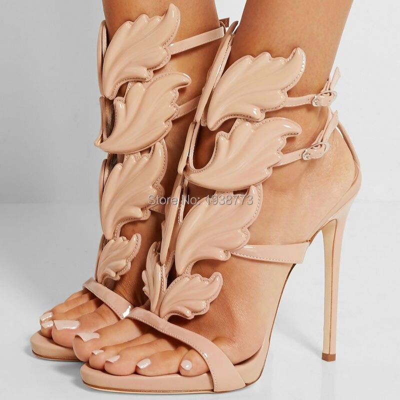 2017 Women Shoes High Heels Sandal Patent Leather Gladiator Women ... cab8dfba9b7f