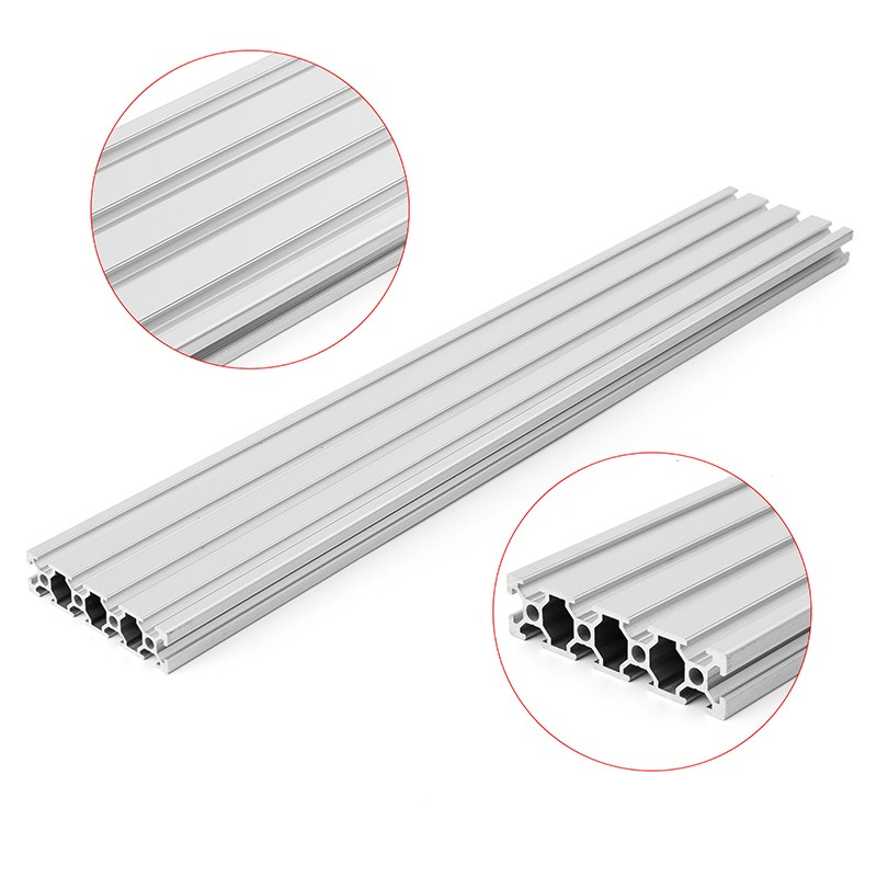 2080 Length 600mm Aluminium Alloy T-Slot Profiles Extrusion Frame Linear Rail For CNC 3D Printer Parts for DIY цена