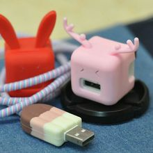 1 pcs Cable Bite charger Protector for Iphone cable Winder Phone holder Accessory Animal doll funny Dropshipping Christmas