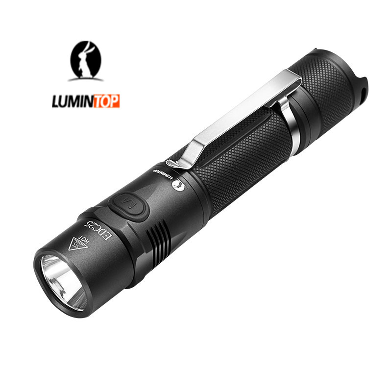 LUMINTOP Rechargeable Tactical 1000 Lumen Flashlight EDC25 Micro Rechargeable USB Torch Cree XP-L LED Tactical Light fenix hp25r 1000 lumen headlamp rechargeable led flashlight