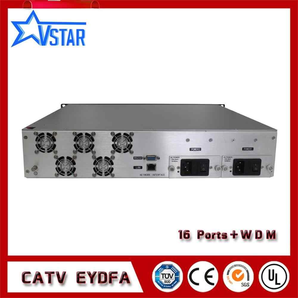 CATV highpower EDFA/EYDFA with WDM for FTTX pon 20dBm each port