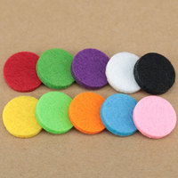 100pcs Colorful 17mm Round Essential Oils Diffuser Locket Pads Perfume Aroma Locket Replacement Pads for 25mm Diffuser locket