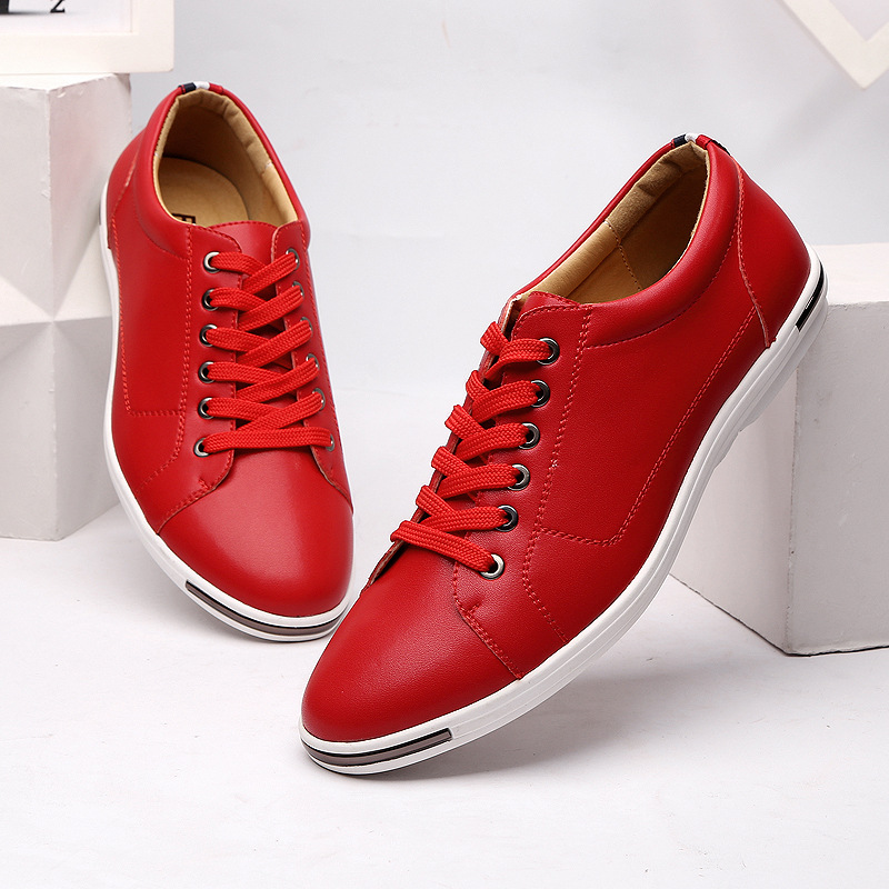 Popular Mens Red Leather Shoes-Buy Cheap Mens Red Leather Shoes ...