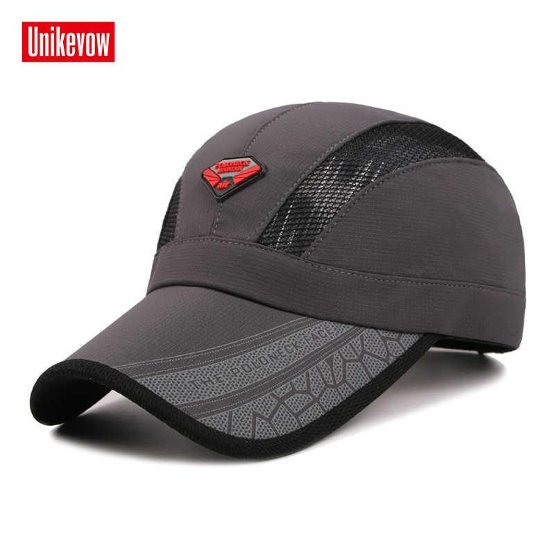 Quick dry verão Chapéu para mulheres dos homens bonés de beisebol com tecido brilhante queda ocasional chapéu