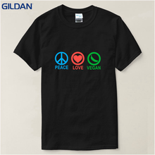 """Peace – Love – Vegan"" men's t-shirt"