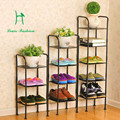 The shoe ark, wrought iron multilayer shoe rack, simple and easy to receive contracted and contemporary economical assembly dust
