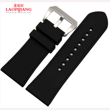 Laopijiang Genuine strap adapter explosion rubber silicone strap watch fashion accessories 30mm black