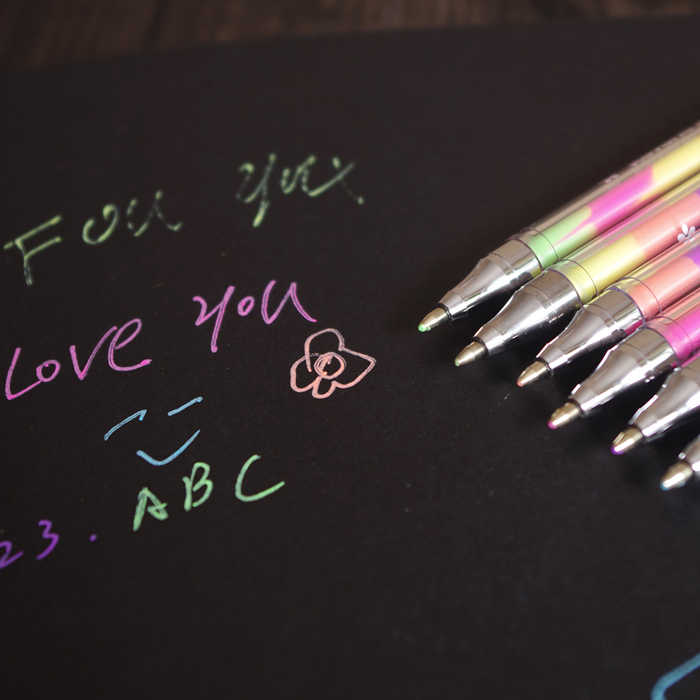 1 шт. милый дизайн чернил 6 цветов текстовый маркер канцелярские ручки красочные Канцтовары письма поставка фломастеры для девочек