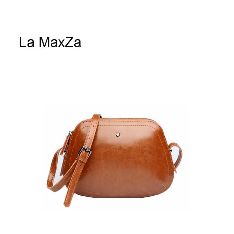 La MaxZa  Hot Sell Women Bag 2019 New Style Fashion High Quality Good Cow Leather Crossbody Bag Purse Satchel Shoulder BagLa MaxZa  Hot Sell Women Bag 2019 New Style Fashion High Quality Good Cow Leather Crossbody Bag Purse Satchel Shoulder Bag