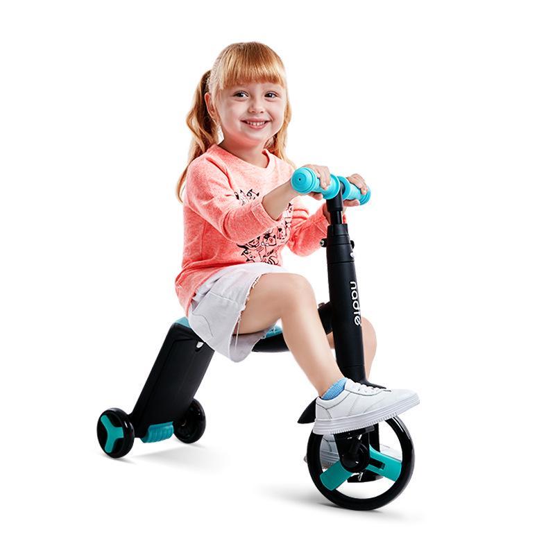 3 en 1 enfants coup de pied trottinette Tricycle Balance vélo enfant tour sur jouet garçon fille Scooter réglable bambin anniversaire cadeau voiture - 3