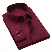 Brand New Men Shirts Solid White Color Man Dress Shirt Long Sleeve Business Forman Male Shirt