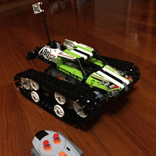 2018 New Remote-control Race Car Lepine Technic Series The RC Track Set Building Blocks Bricks Educational vehicle Toys