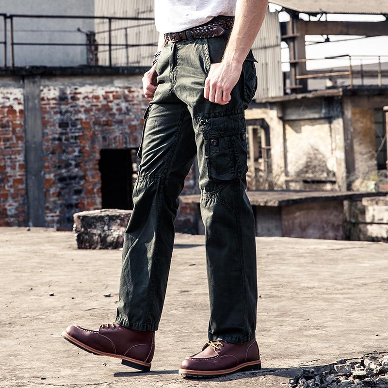 Mutter & Kinder Neue Marke Männer Cargo Hosen Designer Mode Multi-steckte Plus Größe Overalls 100% Baumwolle Männer Casual Hose Ziehen Homme Bf3237 Fortgeschrittene Technologie üBernehmen