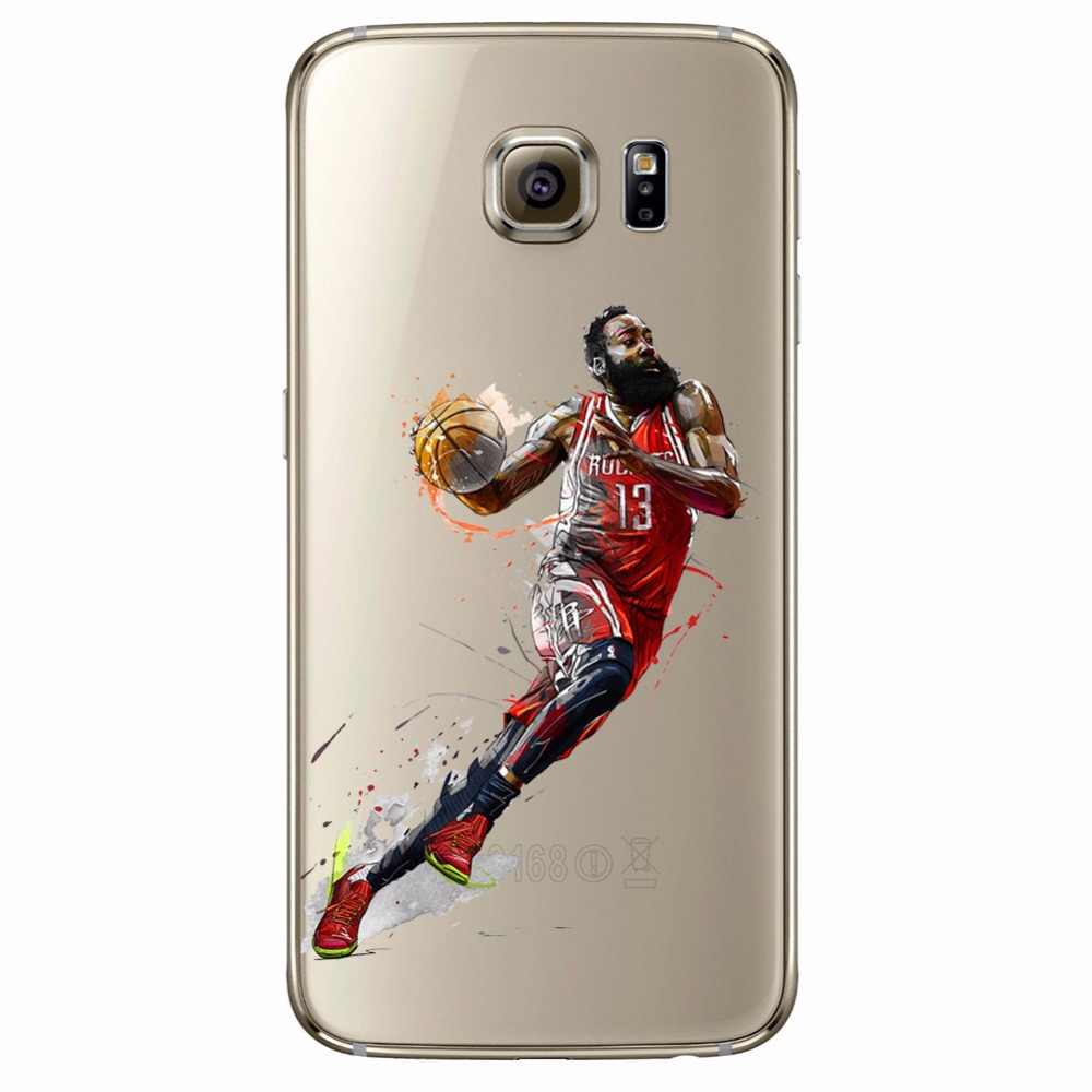91aa78bd6c8c ... ciciber Basketball Curry Harden James Iverson Phone Cases For Samsung  Galaxy S7 S9 S6 Edge S8