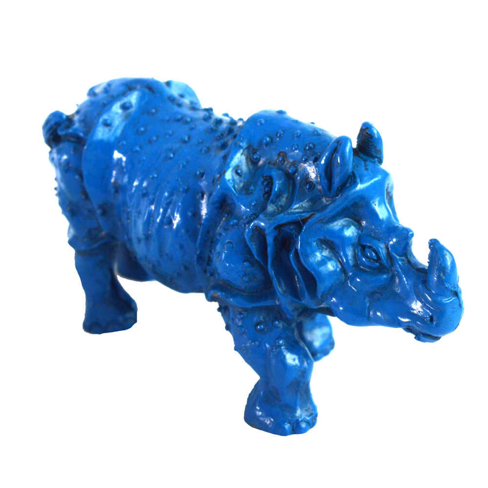 Feng Shui Collectible Decorated resin Rhinoceros Statue free SHIPPING J2095