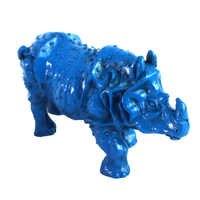 Feng Shui Sammeln Dekoriert harz Rhinoceros Statue kostenloser VERSAND J2095