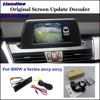 Car Rear View Rearview Backup Camera For BMW 2 Series F22/F45/F46 Reverse Reversing Parking Camera Full HD CCD Decoder car rear view rearview backup camera for audi a1 8x 2010 2018 reverse reversing parking camera full hd ccd decoder accesories