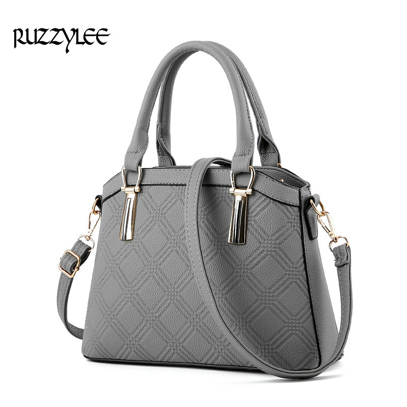 RUZZTYLEE New Women Handbag Satchels Women's Shoulder bag Female Leather Ladies 2016 Brand Womens Messenger Crossbody Bags LH079 bromen crossbody bags for women leather handbags pvc printing satchels ladies shoulder messenger bag brand design dames tassen