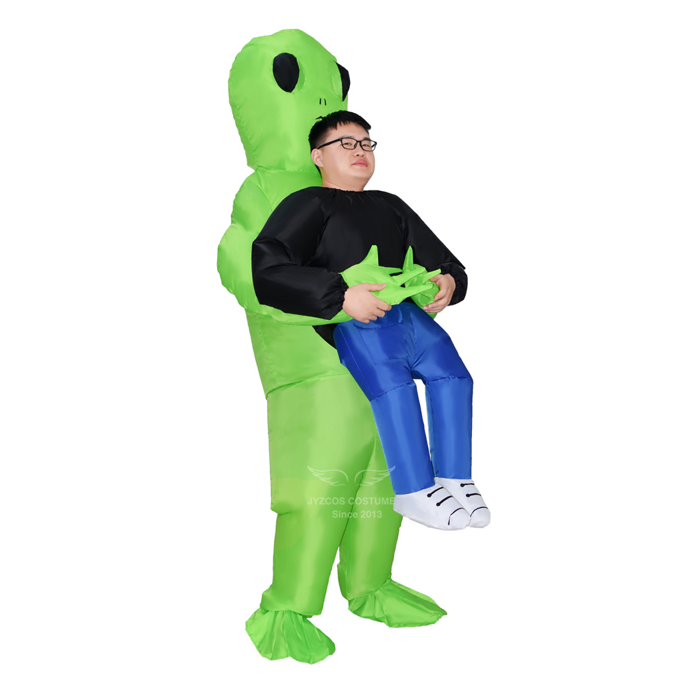 Adult Unisex Alien Inflatable Monster Costume Halloween Party Costume for Men Scary extraterrestrial Cosplay Costume for Purim