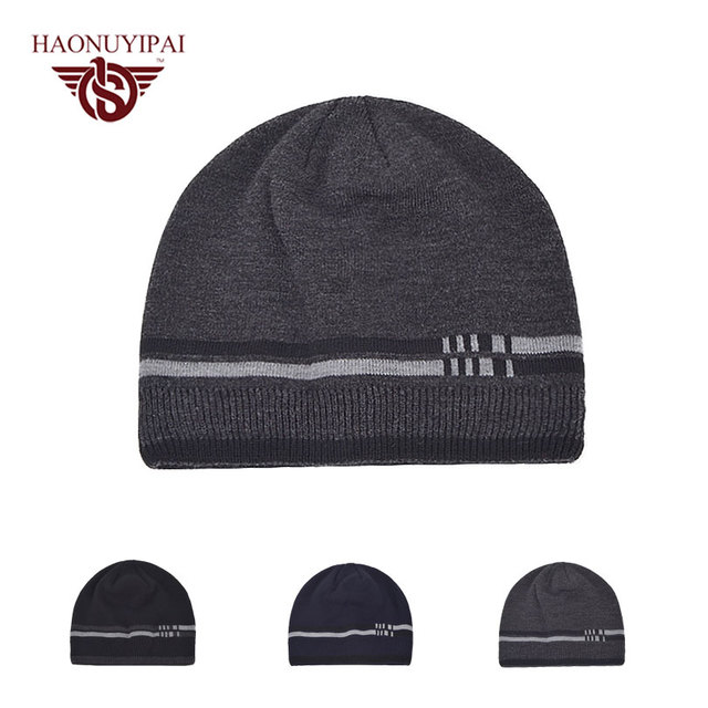b85ae700620 High Quality Brand Knitted Wool Cap Male And Female Fashion Autumn Winter  Caps Beanies Hat Casual