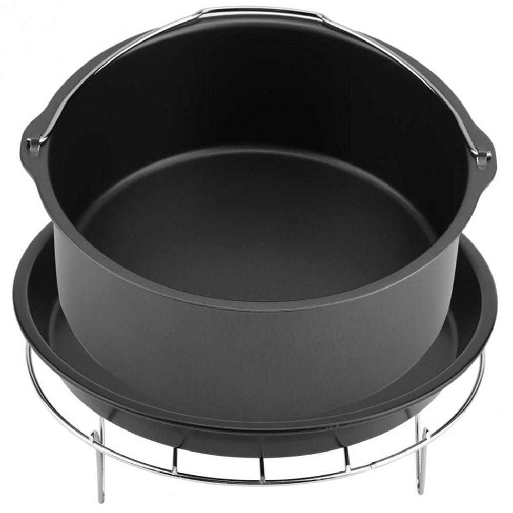 Многофункциональные воздушные приборы для фритюрницы набор деталей 7 дюймов фритюрница аксессуар 3 в 1 хлебная полка торта бочонка для