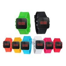 LED Display Digital Wrist Watches for Children Fashion Durable Silicone Strap Kids Girl Boy Sport Quartz Watches Wholesale 30A26