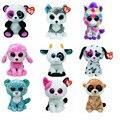 1X Beanie Boos Original TY Big eyes plush toys owl sheep dog cat frog elephant squirrel monkey rabbit tiger