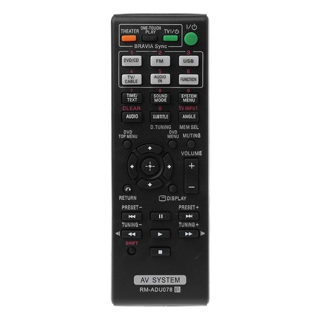 OOTDTY שחור שלט רחוק RM ADU078 AV מערכת עבור Sony DAV TZ710 HBD DZ170 HBD DZ171 HBD DZ175 להחליף טלוויזיה