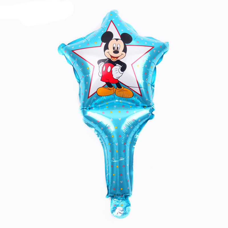 TSZWJ D-043 New hand holding a five-pointed cartoon Mickey aluminum ball childrens toy party birthday balloon