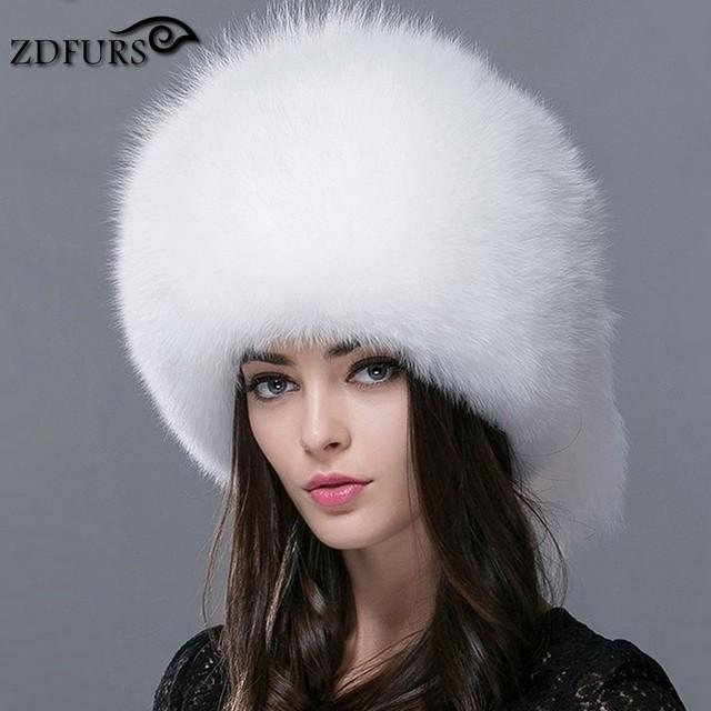 ZDFURS * Outono e inverno das Mulheres Genuine dog raccoon russa chapéu de pele verdadeira pele de raposa chapéu cúpula chapéu mongol ZDH-161013