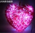 Romantic Roses LED Love Heart Night Flash Light Luminous Rose Pillow Plush Stuffed Plush Glowing Toys  christmas gift