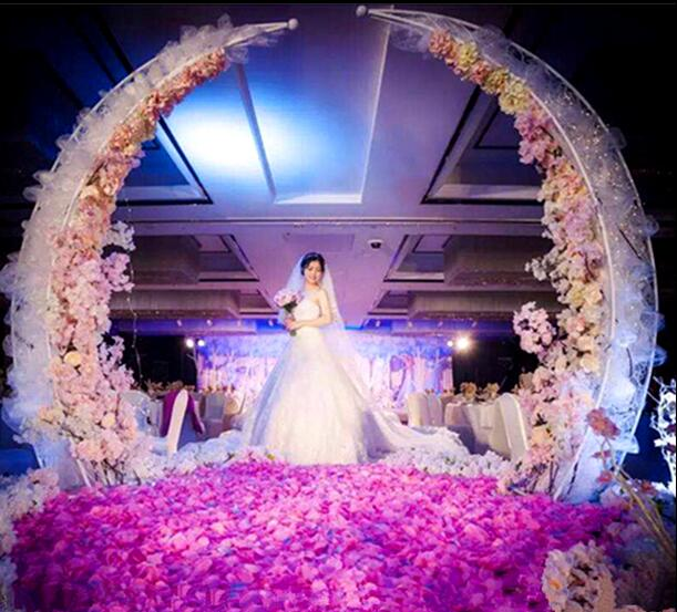2018 New Wedding Iron Ivory Arch Props Wedding Decoration Horn Door