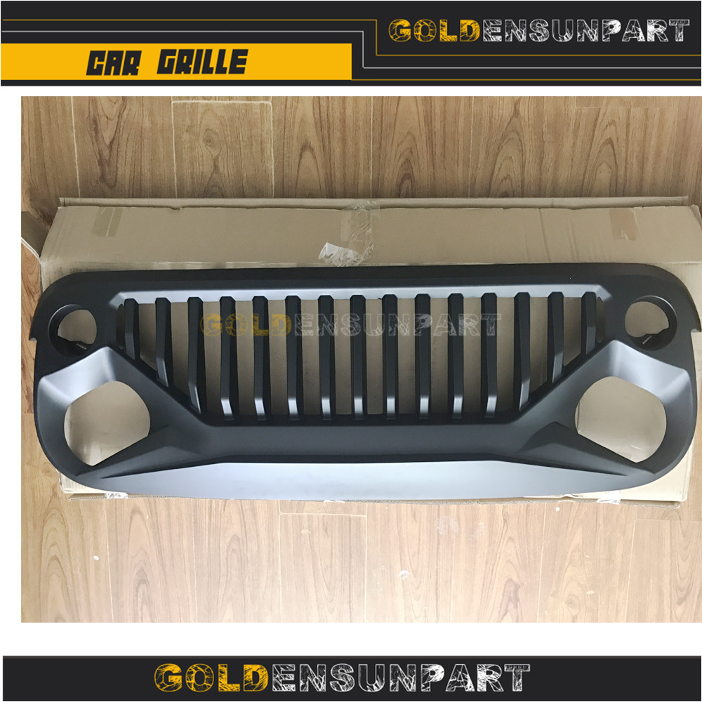 Front Grill Grille for Jeep wrangler JK 2007-2017 Upgrade Angry Bird Black ABS front grill mesh grill insert set cover front grille sticker racing grills trim for jeep wrangler jk 2007 2015
