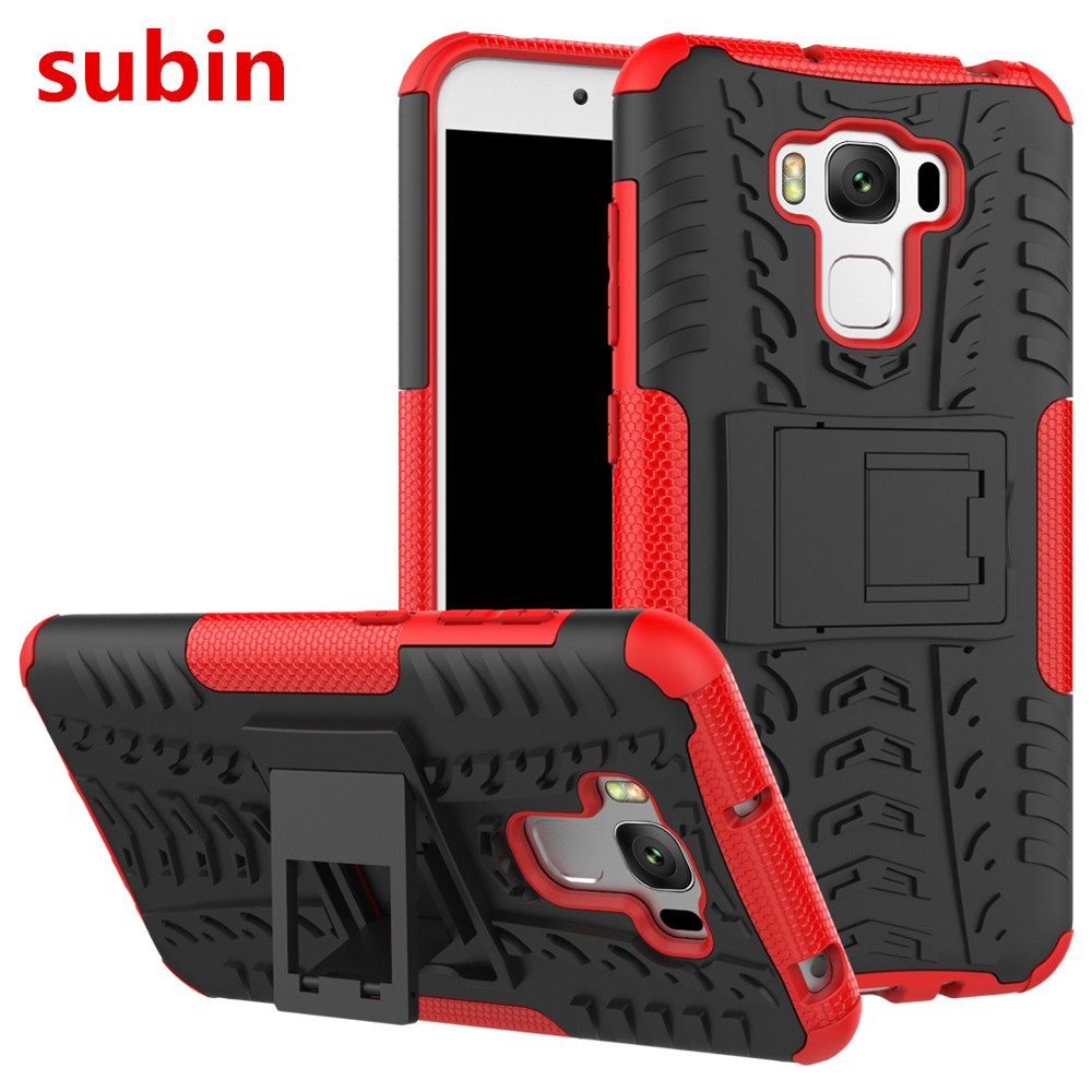 Asus Zenfone 3 Max ZC553KL Case TPU & PC Dual Armour with Stand Hard Silicone Cover For Asus Zenfone 3 Max ZC553KL Հեռախոսային պայուսակ