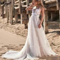 Boho Wedding Dresses V Neck Lace Lace Flowers Sash Illusion robe de mariee Dubai Arabic Muslim Wedding Dress Bridal Dress