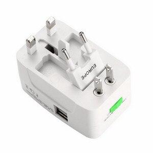 Image 3 - Adaptador de enchufe internacional Universal todo en uno 2 puertos USB adaptador de CA de viaje mundial/cargador de energía AU US UK EU Converter