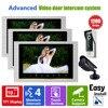 YSECU Home Door Video Intercom Doorbell Phone Pinhole Camera 3V1V1 Kits 3 Indoor Station 1 CCTV