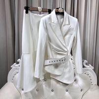 Fashion women's Sets 2018 Runway Luxury Brand European Design party style women's Clothing A1174