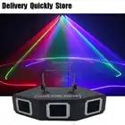 Sector Lijn Scanner disco laser 3Lens RGB Lazer professinol DJ Dance Bar Koffie Xmas Home Party Disco Effect Licht systeem Tonen - 3
