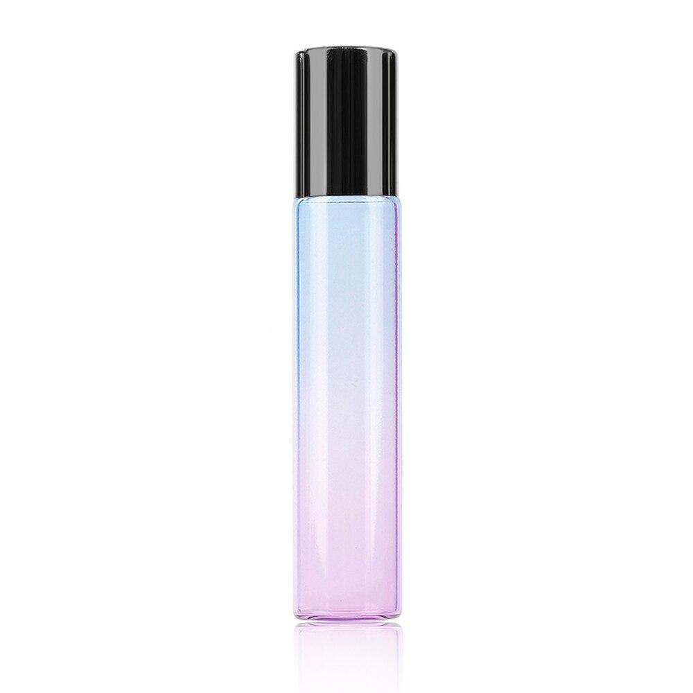 10 мл градиентный цвет эфирное масло флакон духов ролик Толстый Стеклянный рулон прочный для путешествий косметический контейнер - Цвет: 04