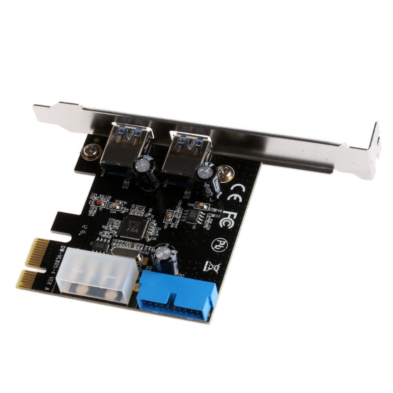 2 Ports PCI Express USB 3.0 Front Panel with Control Card Adapter 4-Pin & 20 Pin цена
