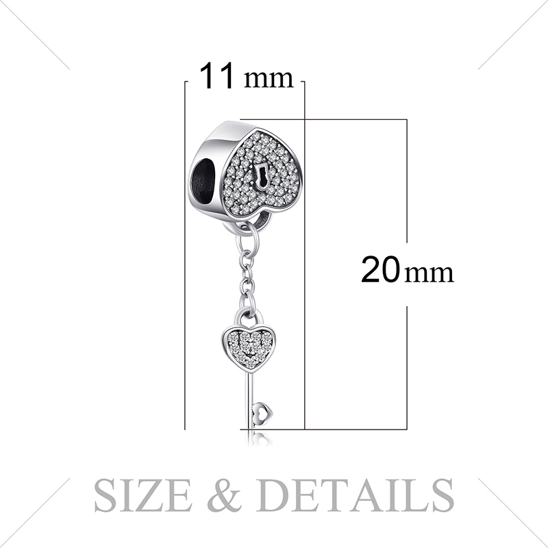 HTB13WynbcnrK1RjSspkq6yuvXXao JewelryPalace Heart Key 925 Sterling Silver Beads Charms Silver 925 Original For Bracelet Silver 925 original For Jewelry Making