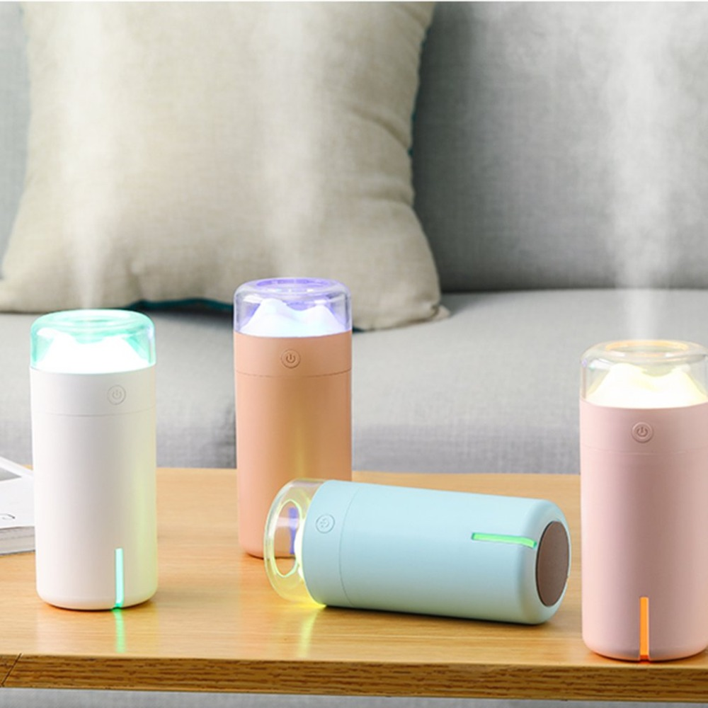 лучшая цена USB Air Humidifier Essential Oil Diffuser Colorful LED Night Lamp Mountain Scenery Humidifier for Home Office Car