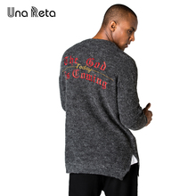 Una Reta New Autumn Winter Sweaters Men Hip Hop Street style embroidery knitting Pullover Mens Loose Casual Plus size Sweaters